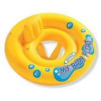 Круг надувной для плавания Интекс My baby Float 67 см со спинкой 59574
