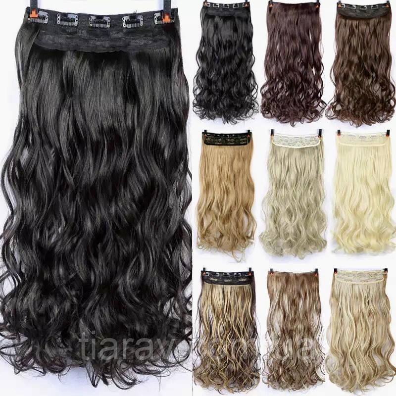 Волосся на заколках, ТЕРМОСТІЙКІ волосся накладні, тресс на заколках