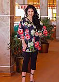 Стильный женский брючный костюм (батал)