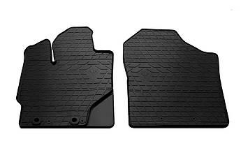 Коврики в салон резиновые передние для Toyota Yaris 2013- Stingray (2шт)