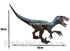 Большой динозавр Велоцираптор Блю Velociraptor резиновый детализированный со звуковыми эффектами 38*66*16 см