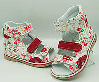 Ортопедичні босоніжки Веветом для дівчинки, фото 1