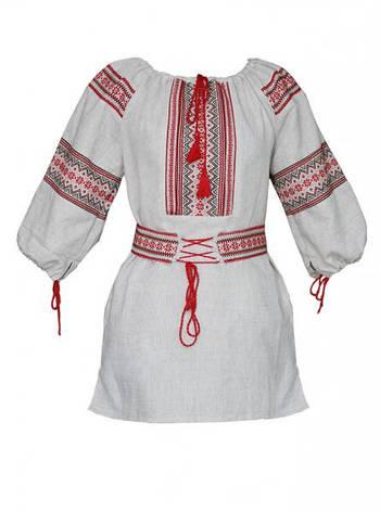 Женская вышиванка, лен, фото 2