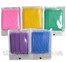 Микробраши для бровей и ресниц в пакете 100шт BR/R
