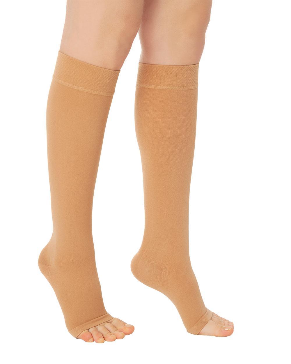 Антиварикозные чулки 2 класса компрессии Variteks до колен с открытым носком