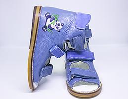 Антиварусні ортопедичні босоніжки блакитні для хлопчика