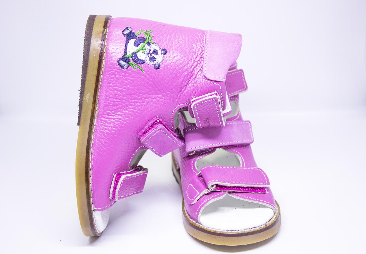 Антиварусні ортопедичні босоніжки рожеві для дівчинки