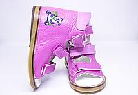 Антиварусні ортопедичні рожеві босоніжки для дівчинки