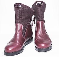 Ортопедичні зимові черевики червоні, фото 1