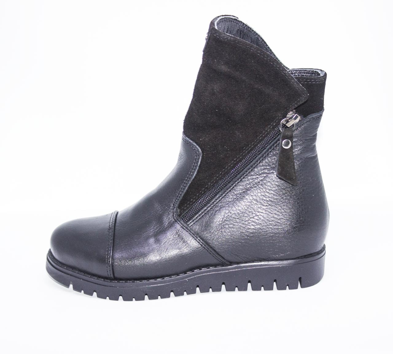 Ортопедичні зимові черевики чорні