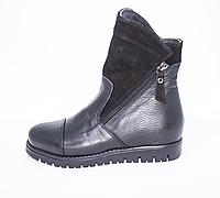 Ортопедичні зимові черевики чорні, фото 1