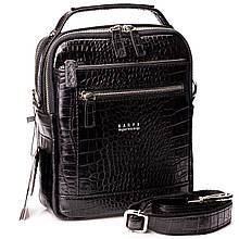 Мужская сумка барсетка Karya 0854-53 кожаная черная