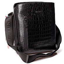 Мужская сумка через плечо BUTUN 434-002-001 из натуральной кожи черная