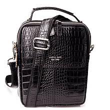 Мужская сумка барсетка Karya 0855-53 кожаная черная