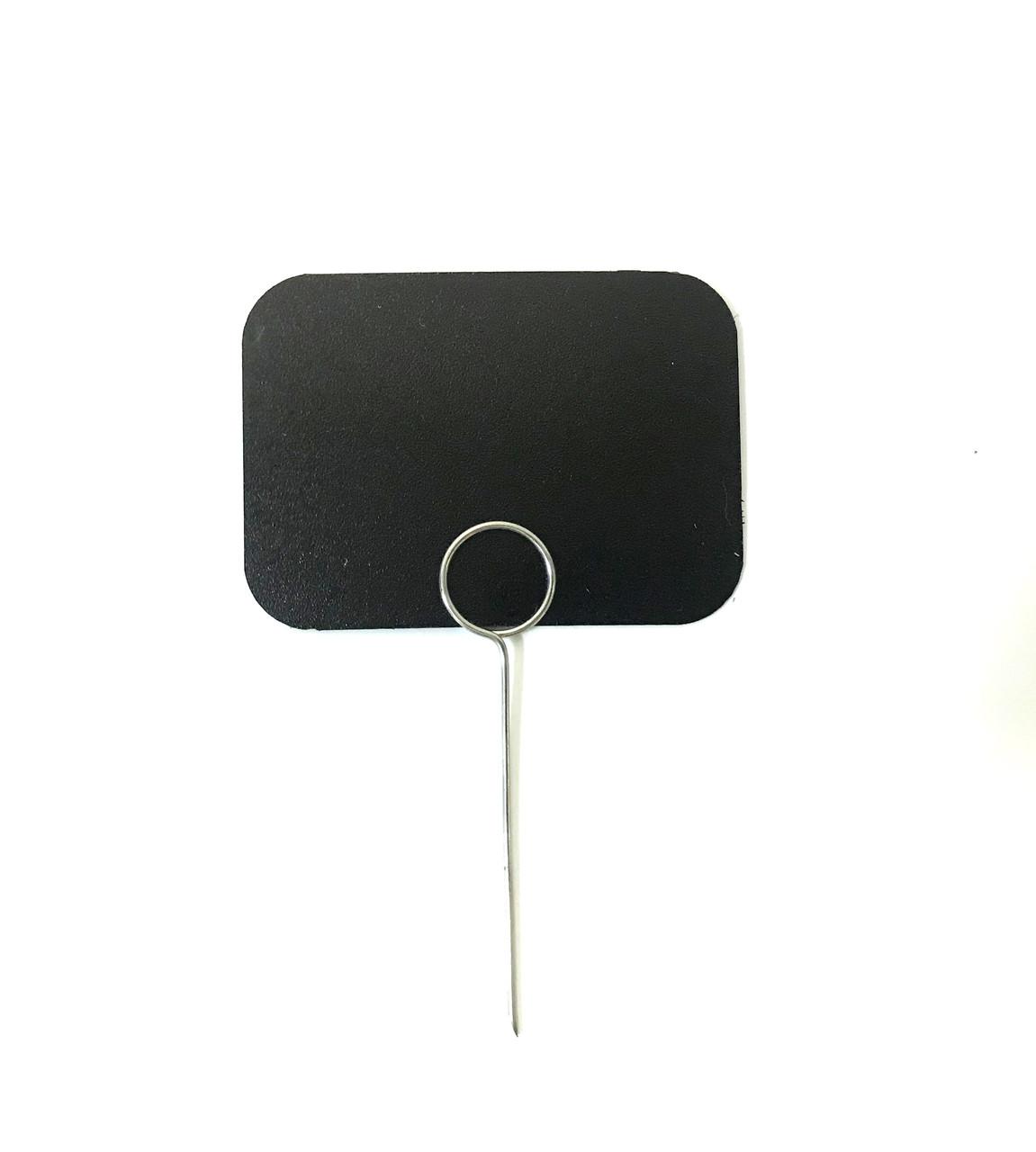 Ценник меловой пластиковый  угловой табличка прямоугольная