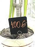 Ценник меловой пластиковый  угловой табличка квадратная, фото 2