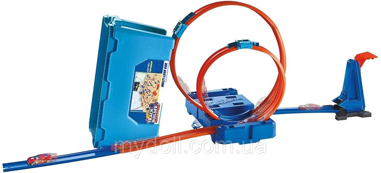 Подвійна петля Трек Хот Вілс Hot Wheels MULTI LOOP BOX Track Builder FLK90 Оригінал