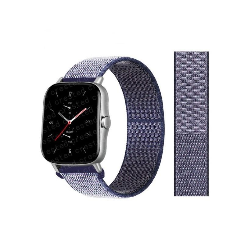 Ремешок для часов Nylon loop bracelet Universal, 20 мм. Midnight blue