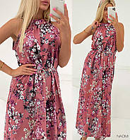 Шикарное платье  макси в  цветочный  принт, фото 1