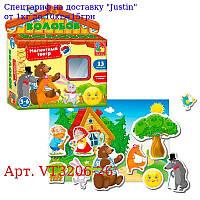 """Игра настольная """"Магнитный театр, Колобок"""" VT3206-26 (укр),"""
