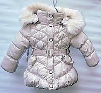 Зимняя куртка для девочки 2-5 лет DING-LI белая