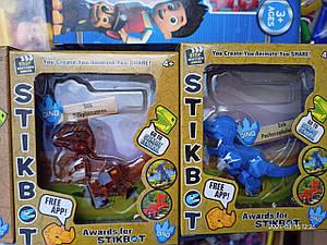 Герої для анімації Стикбот Stikbot динозаври різні кольори