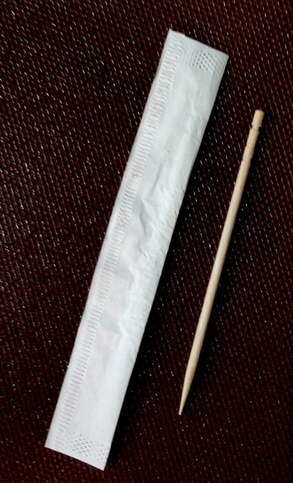 Зубочистка бамбуковая односторонняя запокована индивидуально L 65 мм (уп 1000 шт)