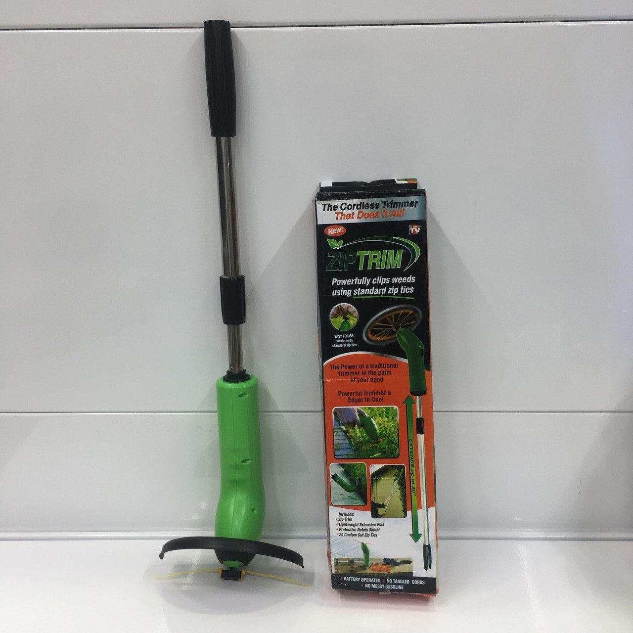 Zip Trim портативний тример-газонокосарка для садового декору Green body