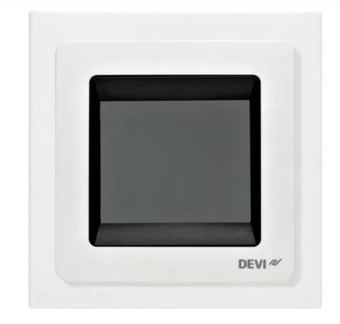 Багатофункціональний програмований Терморегулятор сенсорний датчик для теплої підлоги DEVIreg Touch, фото 2