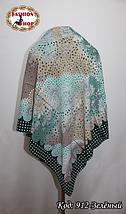 Женский зелёный платок Симфония, фото 3