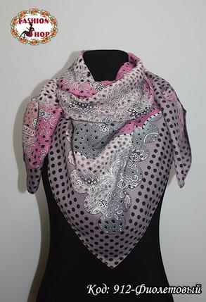 Женский фиолетовый платок Симфония, фото 2