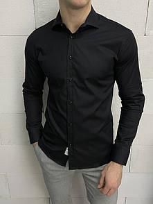 Чоловіча сорочка біла однотонна