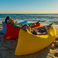Ламзак лежак шезлонг надувной пляжный дачный стандарт 220/70/70