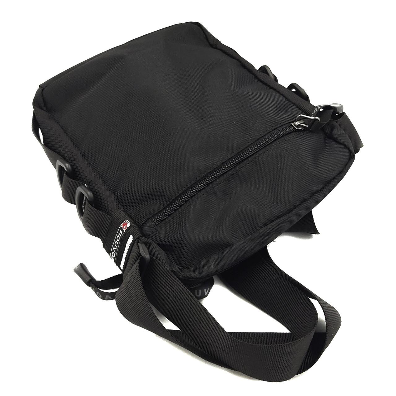Мужская сумка через плечо полиэсиер черная Арт.2022-40 black Fouvor (Китай)