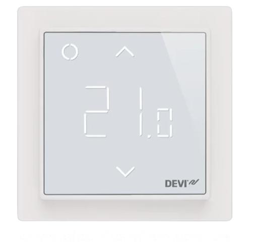 Многофункциональный программируемый Терморегулятор  датчик для тёплого пола DEVIreg™ Smart Ivory