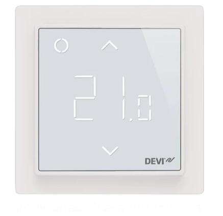 Многофункциональный программируемый Терморегулятор  датчик для тёплого пола DEVIreg™ Smart Ivory, фото 2