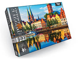 Пазлы 'Старый город, Любек, Германия', 500 элементов Dankotoys (C500-10-06)