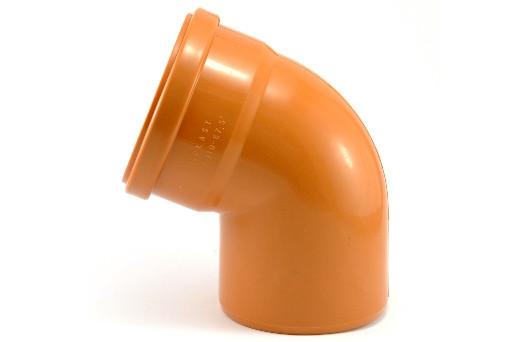 Колено канализационное ПВХ 110х67⁰