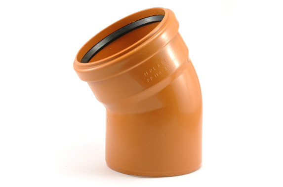 Колено канализационное ПВХ 400х30⁰