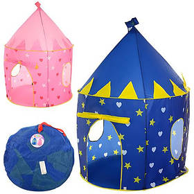 Палатка M 3332 (6шт) домик,102-133см,на колышках,1вход- накидка на завяз,2цвета,в сумке,41-41-3,5см