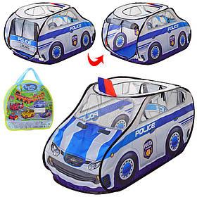 Палатка MR 0029 (12шт) полиция,99-55-55см, окна-сетки,1вход на завязкаж,1вх-крыша,в сумке, 35-32-5см