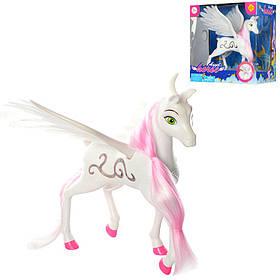 Лошадка DEFA 8325 (8шт) ангел, 23см, с крыльями, звук, свет,на бат-ке(табл),в кор-ке, 24,5-24,5-17см