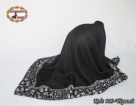 Жіночий чорний платок Еврідіка, фото 2