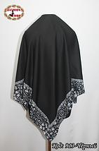 Жіночий чорний платок Еврідіка, фото 3