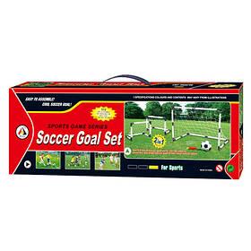 Футбольні ворота MR 0383 (12шт) 2в1,1шт-91-50-61см або 2шт-48-27-33см, м'яч, насос,в кор,55-20-6,5 см