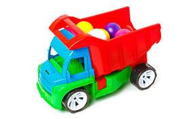 "Машина ""Алексбамс"" + маленькі кульки 12шт (36*24*17см) 087 Бамсик"
