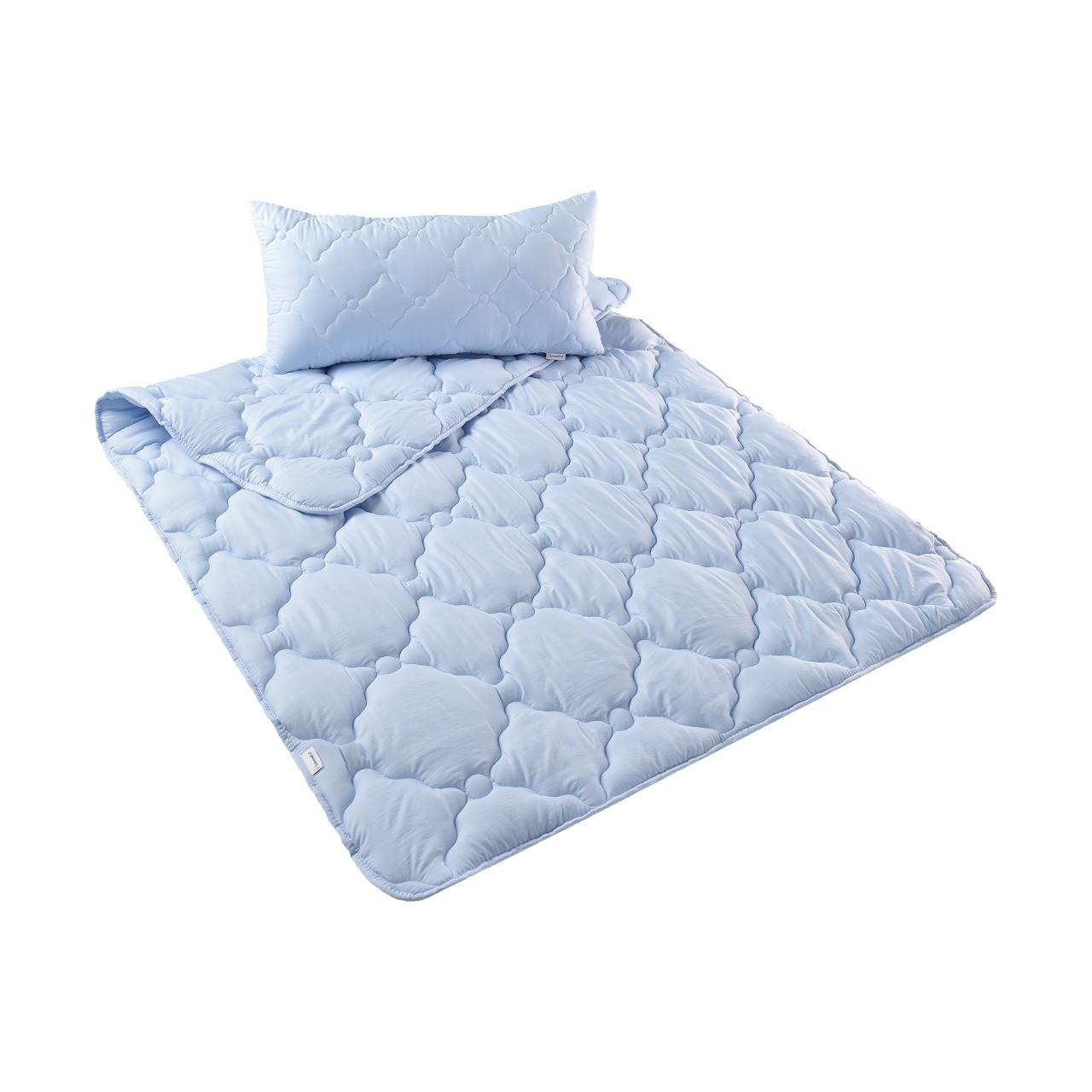 Набор: одеяло холлофайбер всесезонное 200х220 + 2 подушки 50х70 Лаванда IDEIA