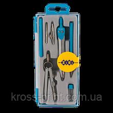Готовальня BASIS 7 предметов, голубой, KIDS Line