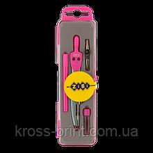 Готовальня BASIS 4 предмета, розовый, KIDS Line