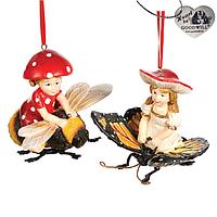 Елочная игрушка девочки-грибы Goodwill